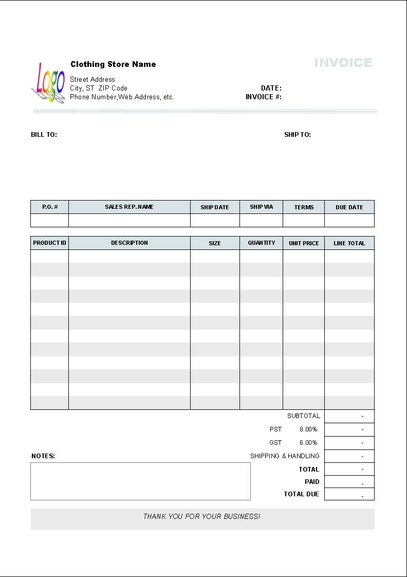 Download Freight Invoice Template For Free Uniform Invoice Software - Create an invoice in microsoft word dress stores online