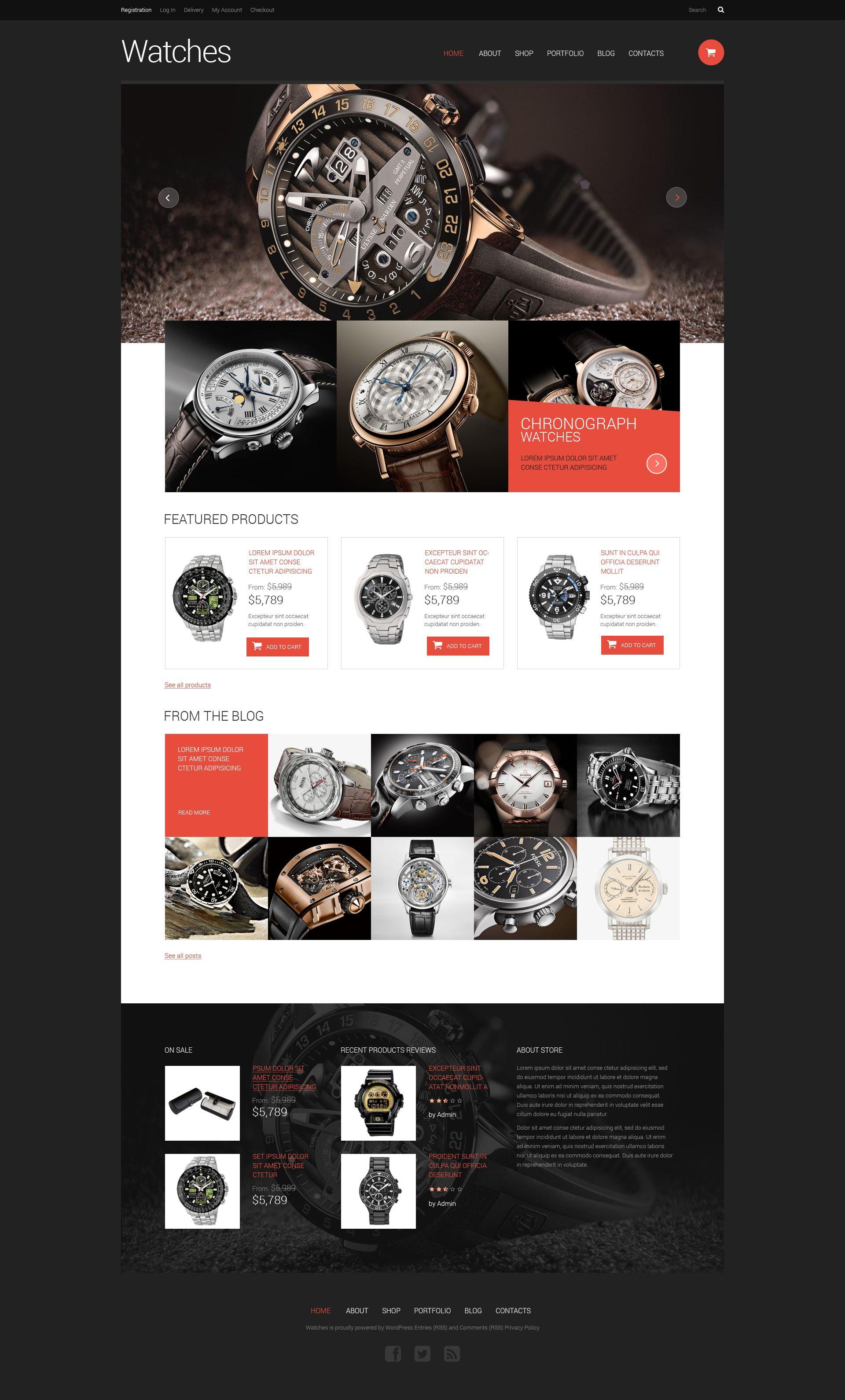 Watches Responsive Woo merce Theme Pinterest