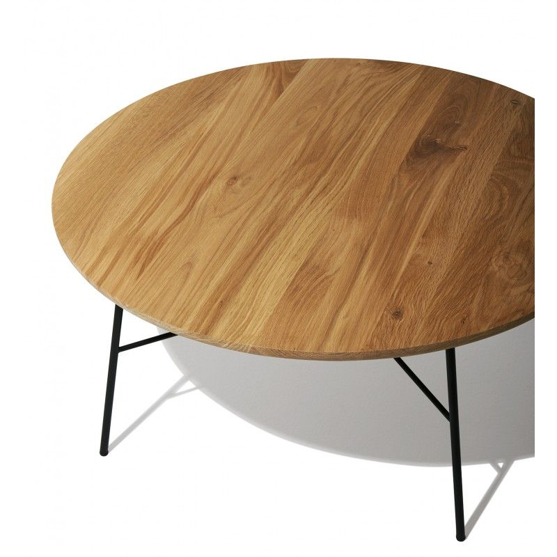 Fresh Round Oak Side Table