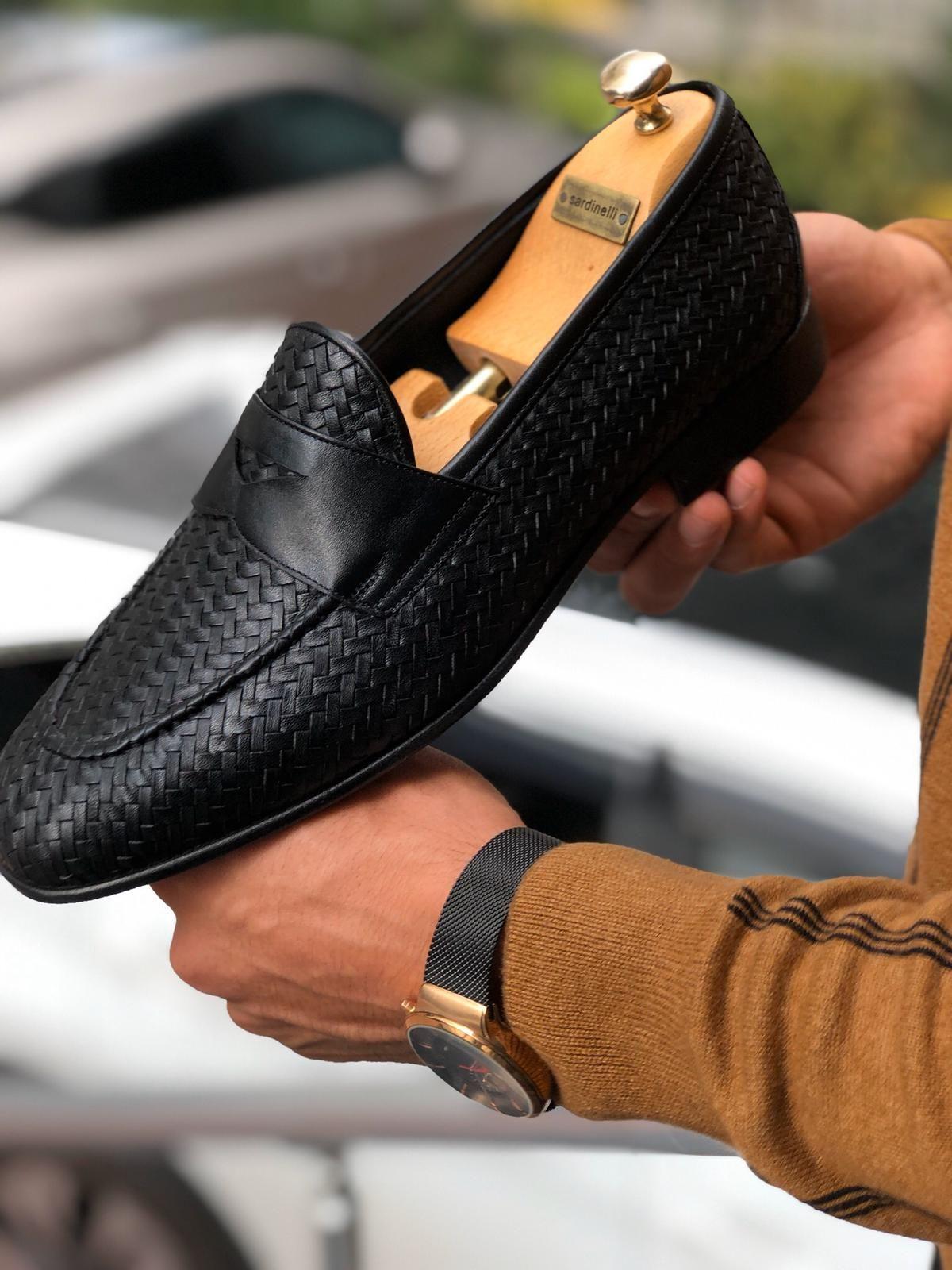 Black loafers men, Dress shoes men