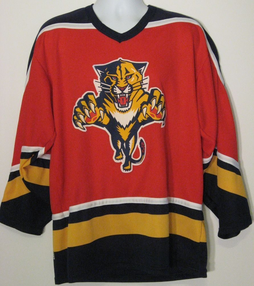 quite nice fb0f6 0a1ad Hockey Jersey Florida Panthers CCM NHL Mens Sz Large Vintage ...