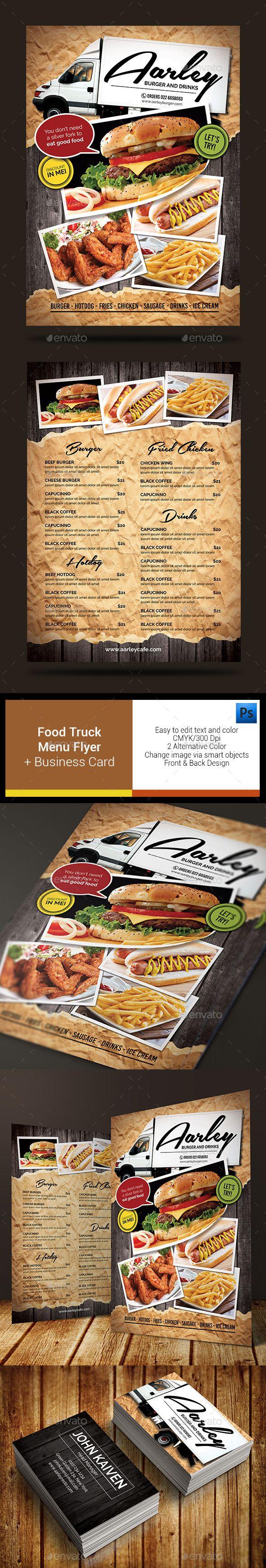 Menu Flyer Templates Yenimescaleco - Food truck flyer template