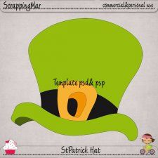 St Patrick Day Hat Layered Templates by ScrapingMar irishsaintpatcudigitals.com cu commercial scrap scrapbook digital graphics#digitalscrapbooking #photoshop #digiscrap #scrapbooking