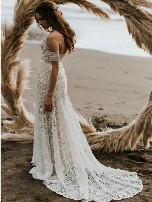 Sweetheart Lace Mermaid Wedding Dresses Online Cheap Lace Bridal Dresses Wd460 Bridal Dresses Lace Lace Beach Wedding Dress Online Wedding Dress