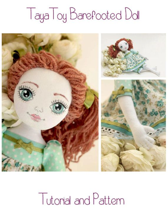Doll Making Sewing e-Pattern & Tutorial-Barefooted Cloth Doll PDF ...
