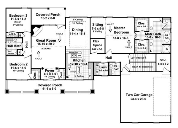 House Plans With Basement basement floor plan for the olmstead house plan Basement Option Floorplan Image Of The Stonebridge House Plan