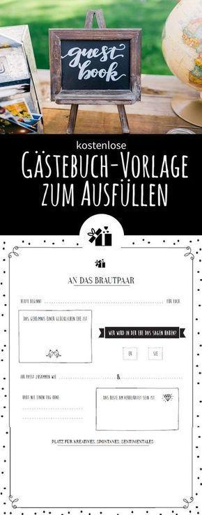 Tolle Gastebuch Vorlage Zum Ausfullen Gratis Download