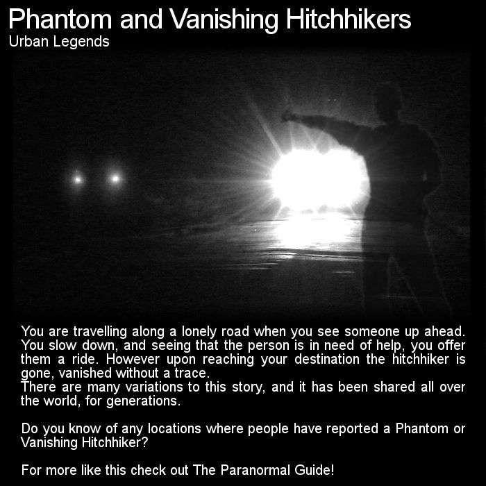 Hitchhikers By Side Of Road >> This urban legend is worldwide with phantom hitchhikers located all over the globe and ...