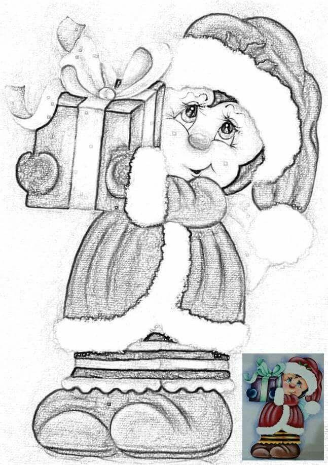 Mariquita colacho molde navidad navidad tela navidad - Motivos navidenos para pintar en tela ...