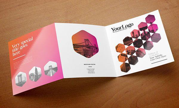 Contoh inspirasi desain brosur ide template Brochure \ Pamphlet - modern brochure design