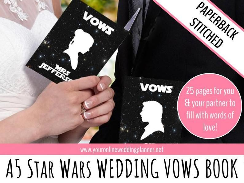 Star Wars Wedding Vow Books Wedding Vow Books Personalised Etsy In 2020 Wedding Vow Books Star Wars Wedding Vow Book