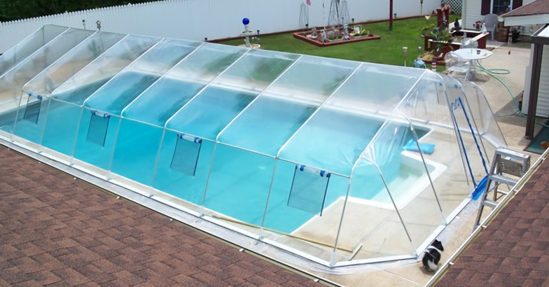 Dome Enclosures For In Ground Pools Extend The Swimming Season And