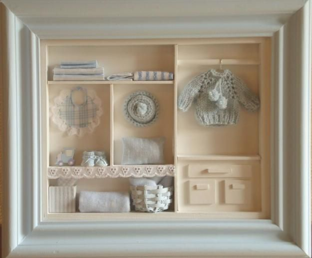 cuadro con profundidad hogar diy pinterest vitrines miniature et cadre. Black Bedroom Furniture Sets. Home Design Ideas