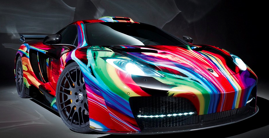 Fast Cars Unique Paint Job Tie Dye Car Fast Cars Pinterest - Pictures of fast cars