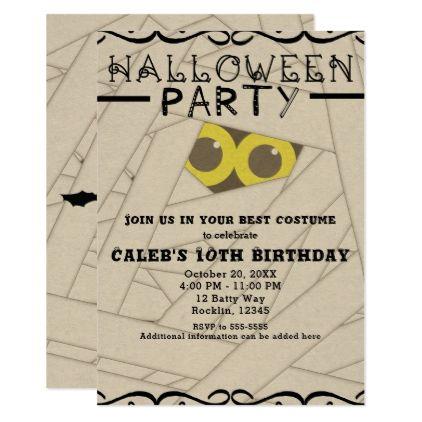 Mummy Kraft Paper Look Halloween Costume Party Card Birthday Gifts Celebration Custom Gift Ideas Jpg