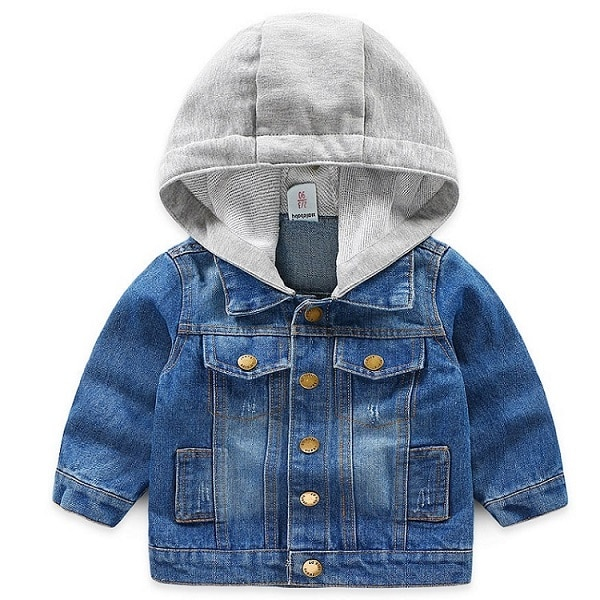 TAIYCYXGAN Toddler Boys Girls Denim Jacket Coat Kids Cowboy Hoodies Zipper Outwear Winter Autumn