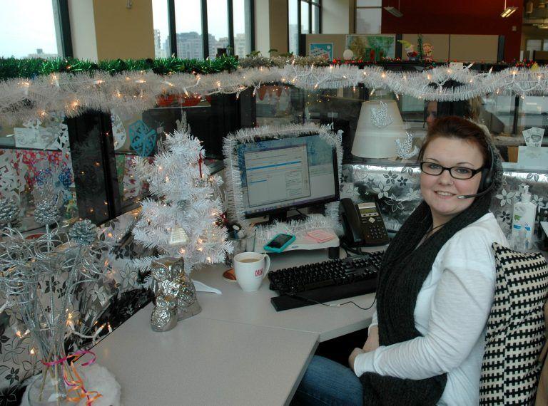 lovely office cubicle christmas decorating ideas | Beautiful Design Ideas Winter Wonderland Office Decorating ...