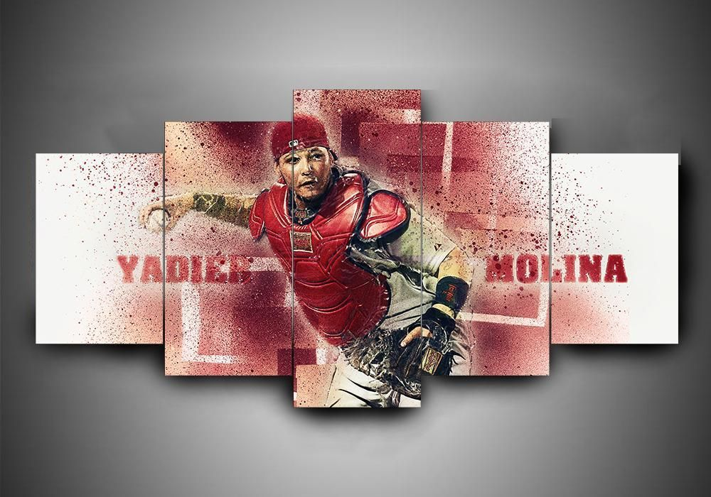St Louis Cardinals Yadier Molina Baseball Canvas Wall Art Sport Canvas Art Canvas Art Wall Decor Baseball Canvas