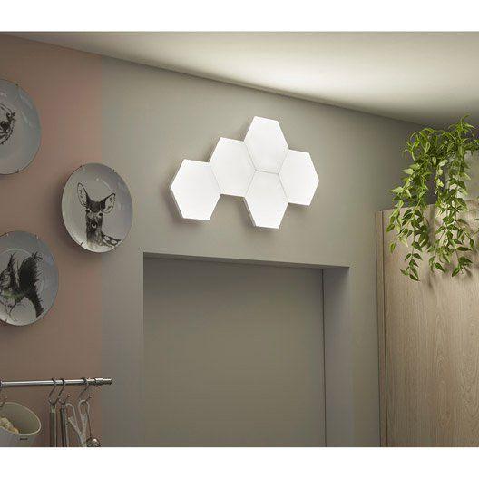 Kit Panneau Led Decoratif Puzzle 1 X 0 6 W Blanc Inspire Panneau Led Led Led Lumineuse