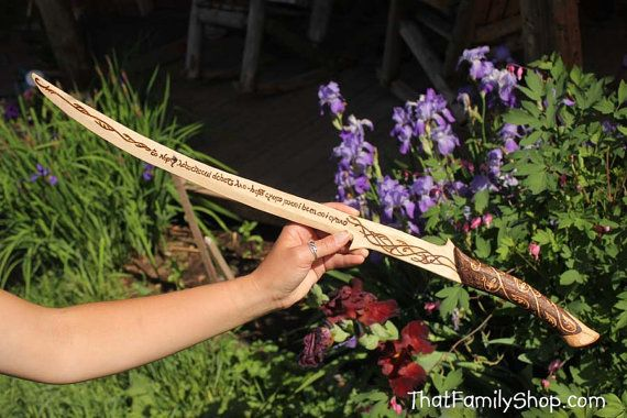 Girls wooden sword arwen s lord of the rings hadhafang