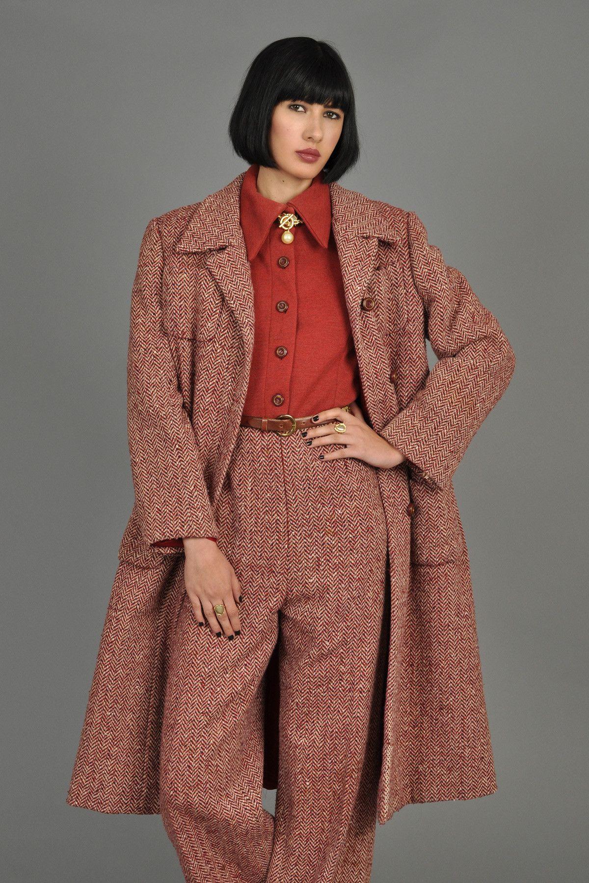 1970s 3-Piece Tweed Jumpsuit + Coat Ensemble | BUSTOWN MODERN