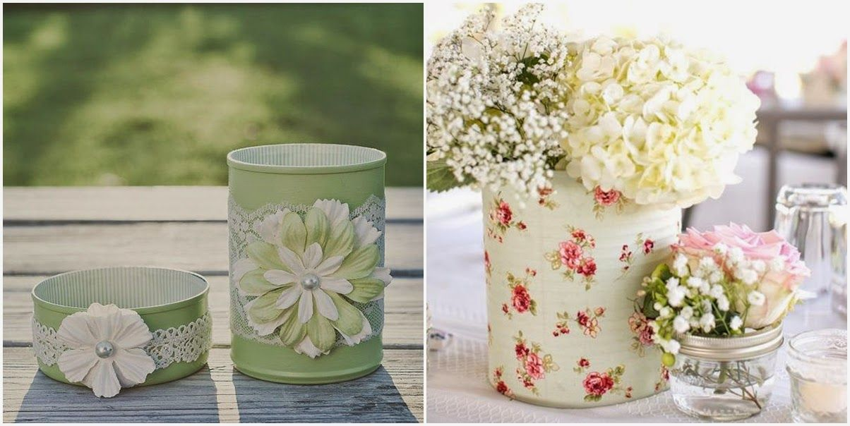 Ideas para reciclar latas de conserva glass bottle - Ideas para reciclar en casa ...