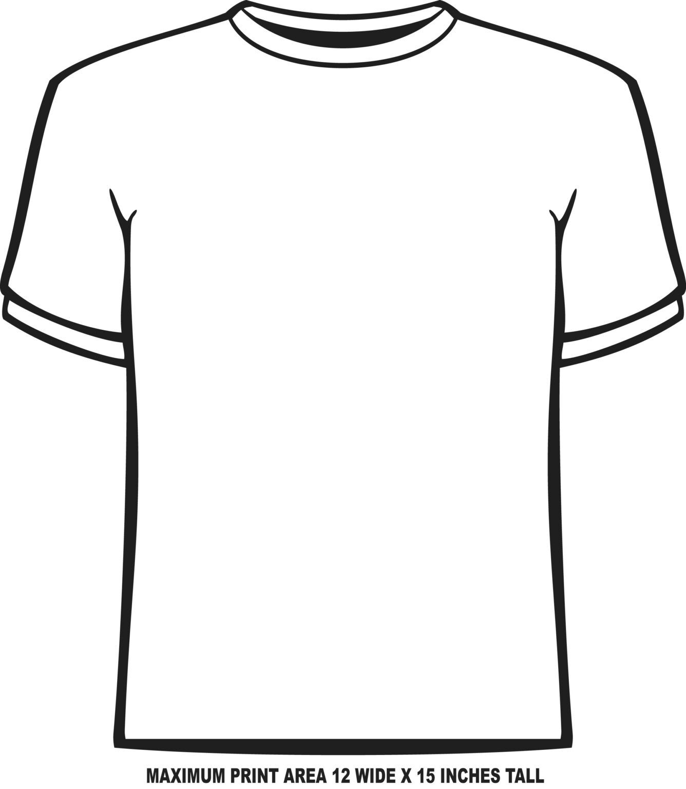 Blank Tshirt Template Pdf Dreamworks Within Blank Tshirt Template Pdf Tshirt Template T Shirt Design Template Printable Tags Template