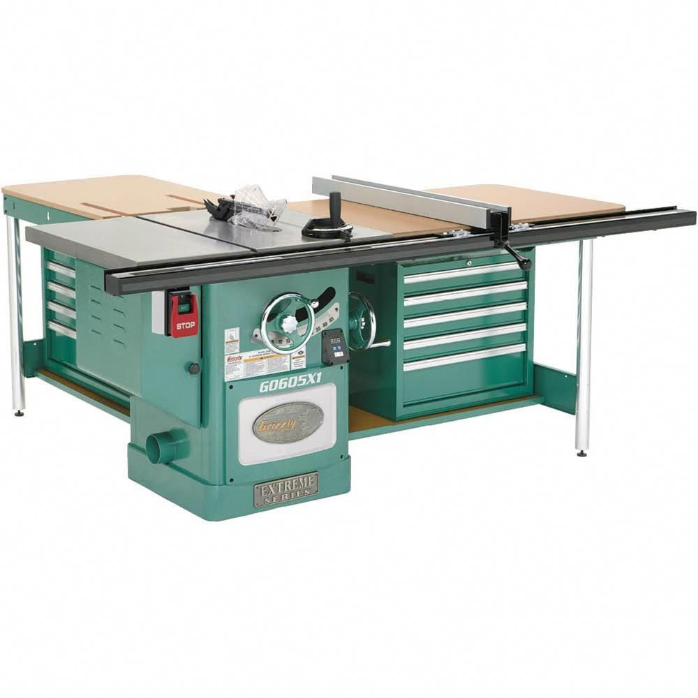 12 Extreme Table Saw 5hp Single Phase Grizzly Industrial Tablesaw Top Woodwork Tools Woodworking Table Saw Antique Woodworking Tools