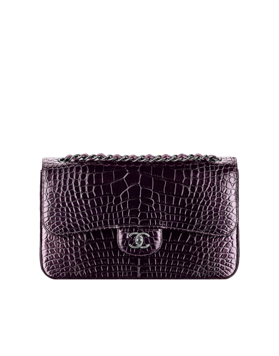 12b78b3a8a7e Chanel-Shiny-Alligator-Flap-Bag-with-Camellia | Bags | Bags, Girls bags,  Chanel