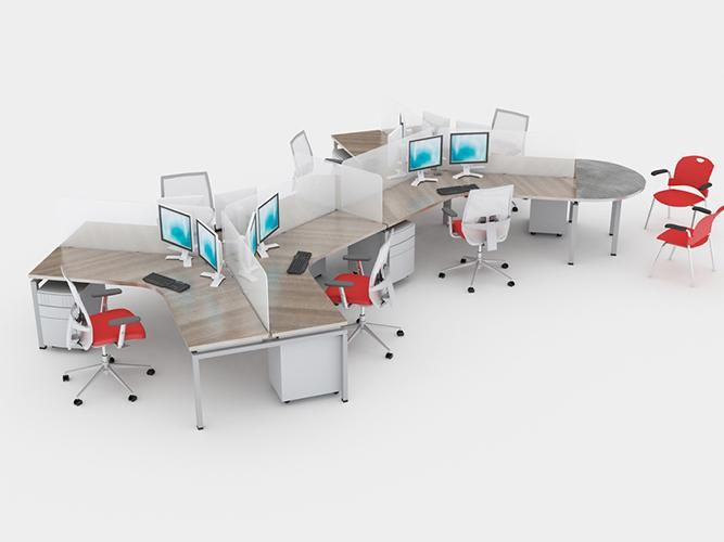 Open Plan Workstations 120 Degree Modular Benching Systems Cheap Office Furniture Affordable Office Furniture Furniture