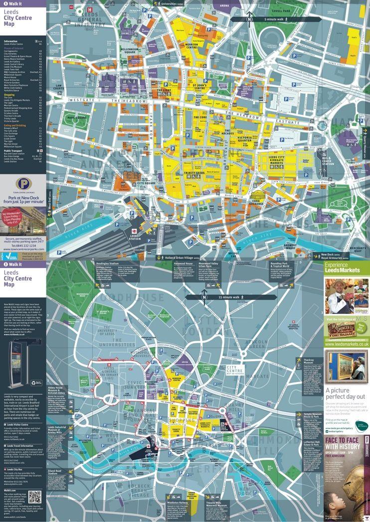 Leeds tourist map Maps Pinterest Tourist map Leeds and City