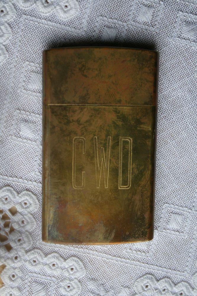Vintage Brass Business Card Case Holder Brass No. 9, Chas T. Kennedy ...