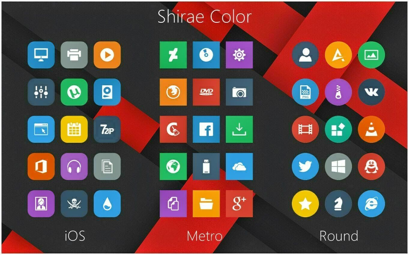 Shirae Color Icon Packs cleodesktop Download http//www