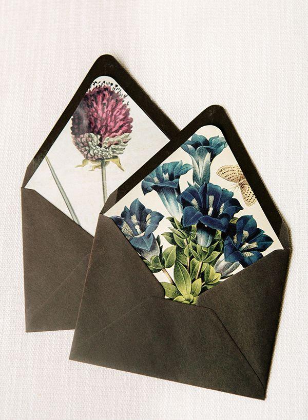 DIY Floral Envelope Liners Wedding Paper Pinterest