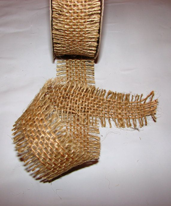 2 yards of High quality 1 1/2 inch natural jute by RibbonAndMore, $2.25