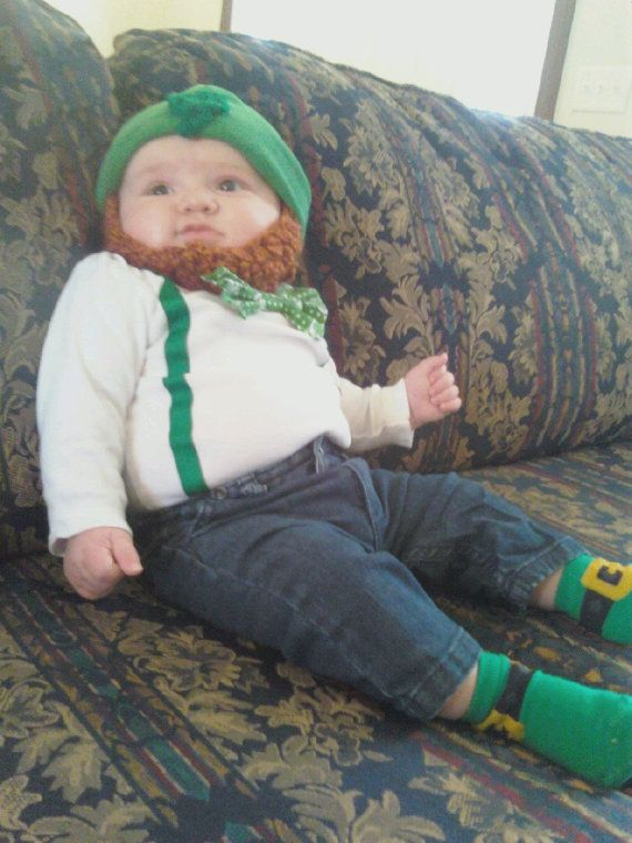 Baby Halloween Costume Beard Beanie Hat Photo by SimplyCollectible & TWO IRISH Baby Beard Beanies for $30.00 | Kiddos... | Pinterest ...