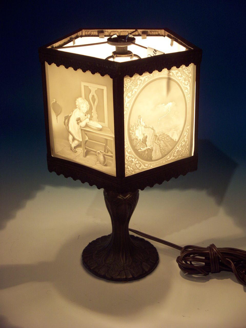 5 Panel Lithophane Lamp Lamp Tiffany Stained Glass Fairy Lamp