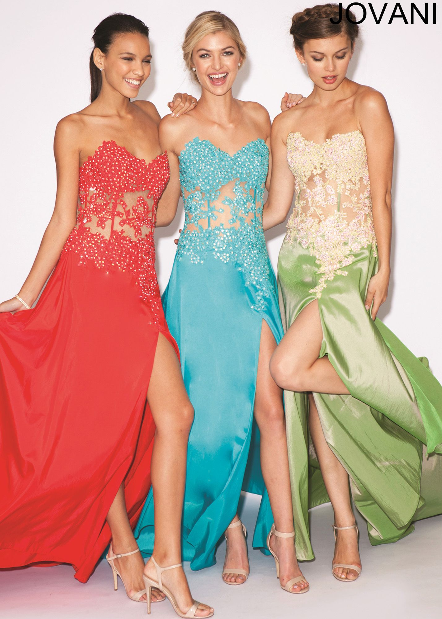 Jovani 10466 - Strapless Beaded Taffeta Sweetheart Prom Dresses ...
