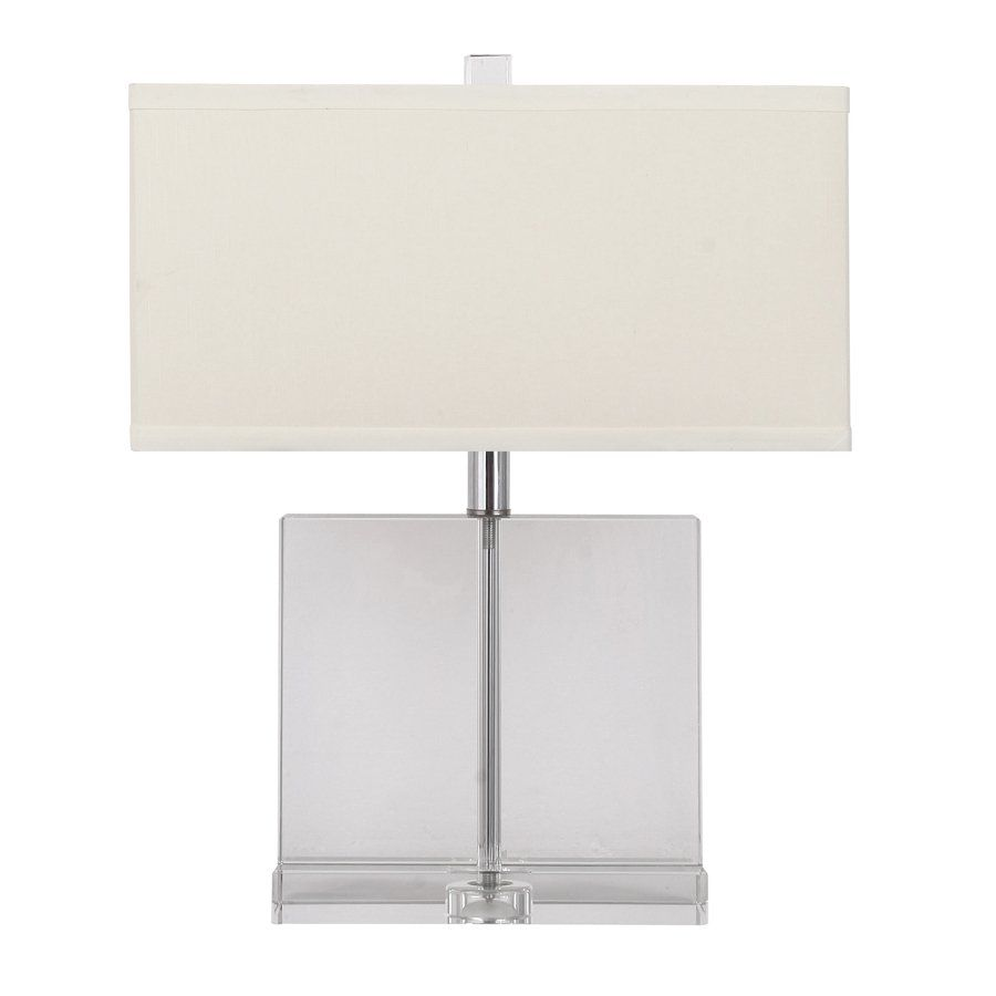 Shop gracious living 21 in glass block clear table lamp with off shop gracious living 21 in glass block clear table lamp with off white shade at aloadofball Gallery