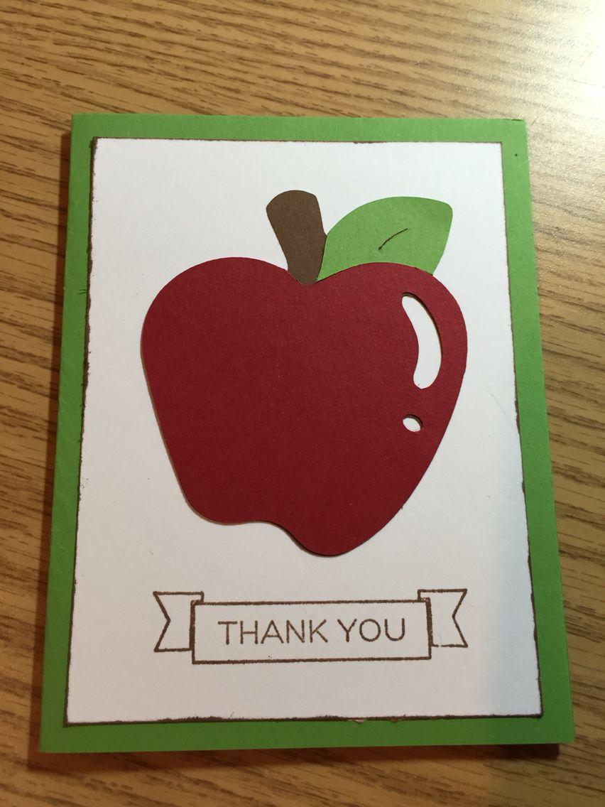 Handmade Teacher Thank You Card Teacher thank you cards