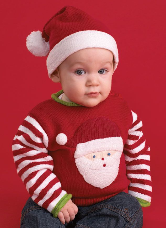 hand knit cotton santa christmas sweater is perfect for boys or girls dress your toddler boy up in seasonal style with this comfy and cozy santa sweater