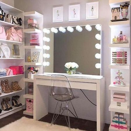 Superior 17 DIY Vanity Mirror Ideas To Make Your Room More Beautiful. Closet  VanityCloset DoorsWalk ...