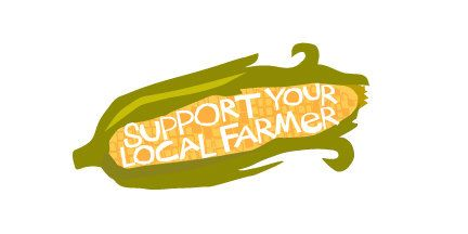 Bumper sticker Support Your Local Farmer Chicken Decal Bumper sticker die cut