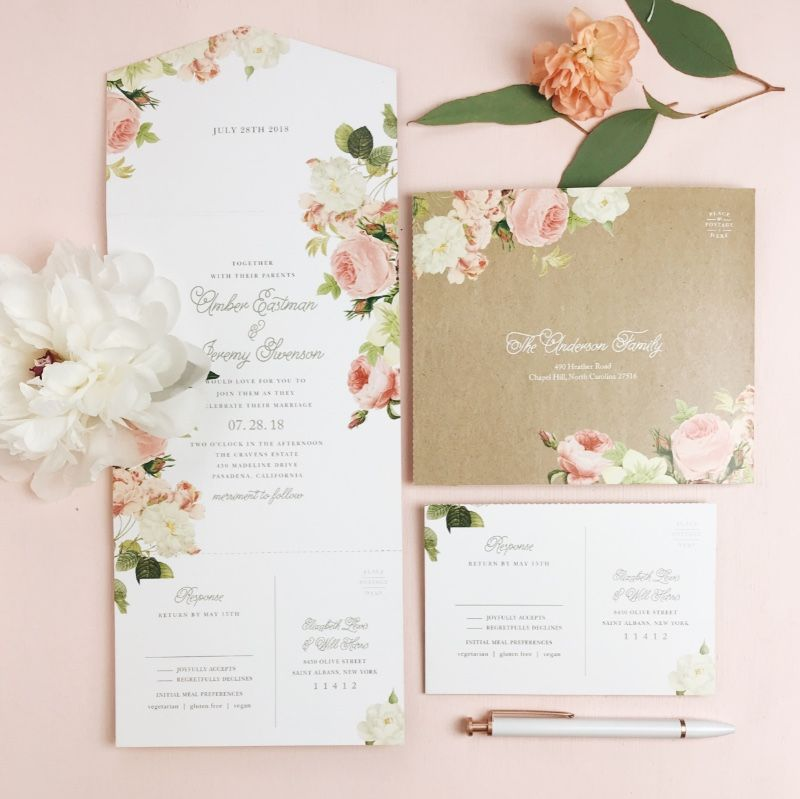 Have You Checked Out Basic Invite S Brand New Seal Send Wedding Invitatio Discount Wedding Invitations Floral Wedding Invitation Card Wedding Invitations Diy