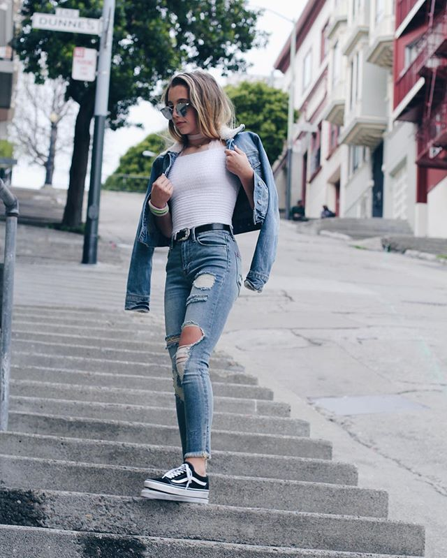 2ab070c8e03 happily // ✧ | threads in 2019 | Old skool outfit, Vans ...