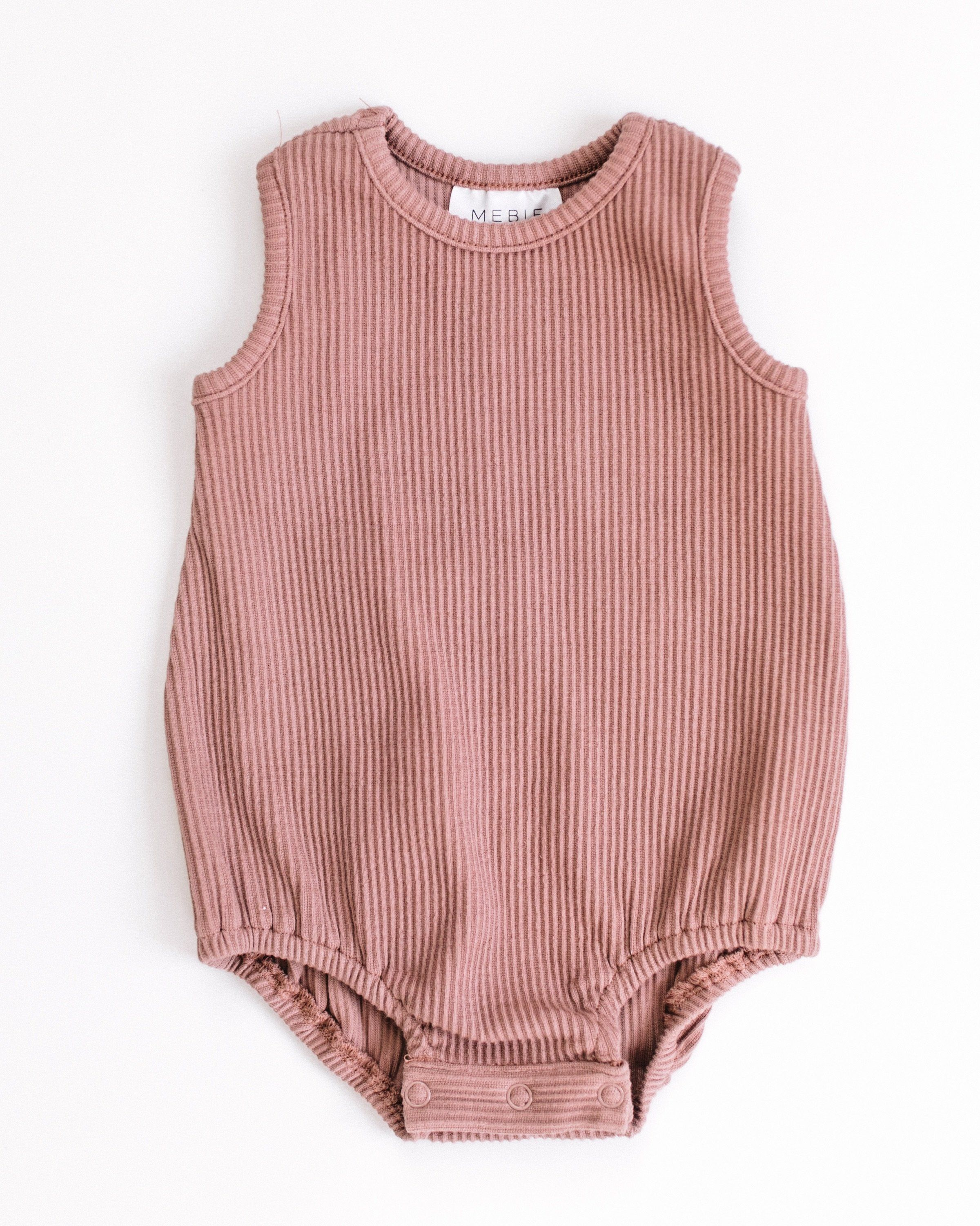569db6511 Blush Ribbed Bubble Romper | Products | Rompers, Baby kids clothes ...