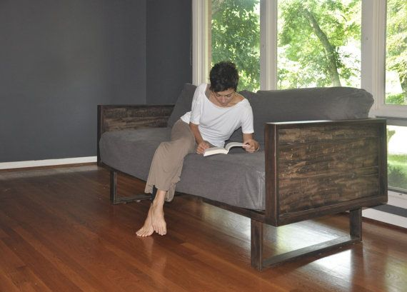 Recycled Barn Wood And Steel Daybed Sofa By Evolvedesignbuild - Reclaimed Wood Daybed WB Designs