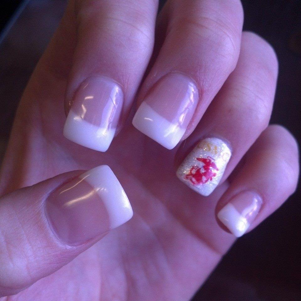 Nails for the Marine Corps Ball! #Nails #Nailart #USMC #Frenchtips ...