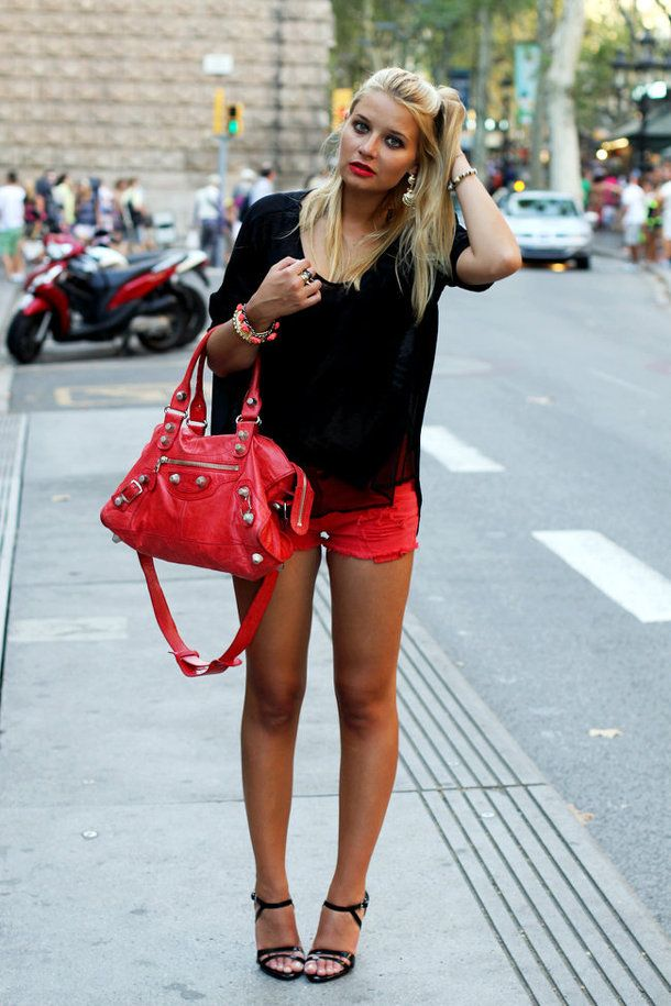 Live Your Style | Red shorts, Shorts and Summer