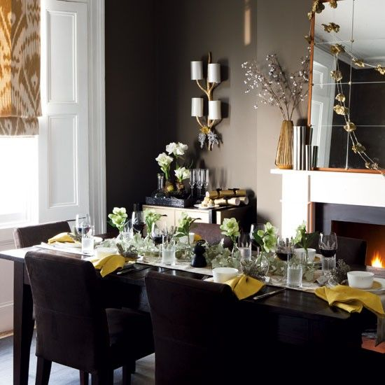 Traditional Christmas Dining Room Ideas  Room Dining And Magnificent Dark Grey Dining Room Decorating Inspiration